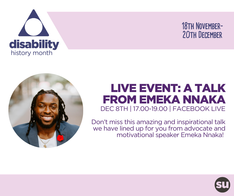 Emeka Nnaka's talk will be at 5pm UK Time on Tuesday 8 December broadcast on Facebook live