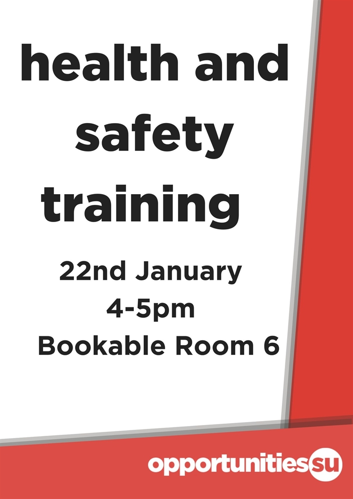 Health and Safety Training (afternoon)