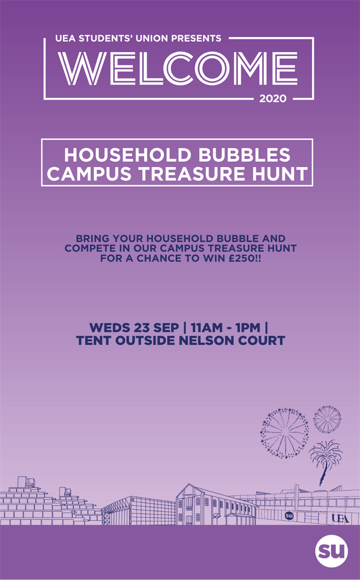 Household Bubbles Campus Treasure Hunt - Weds 23rd Sept - 11am - 1pm - Chance to win £250!!