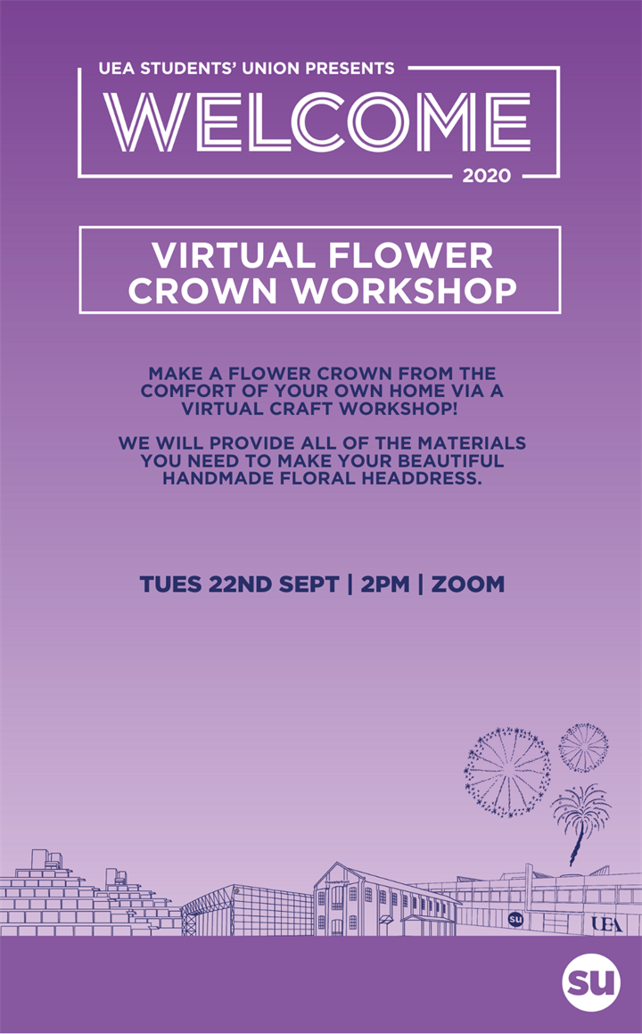 Virtual Flower Crown Craft Workshop Tues 22nd Sept 2pm - 3pm
