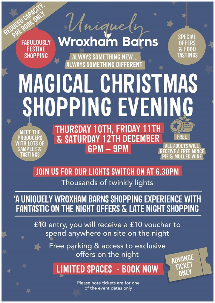Wroxham Barns Christmas Shopping evening