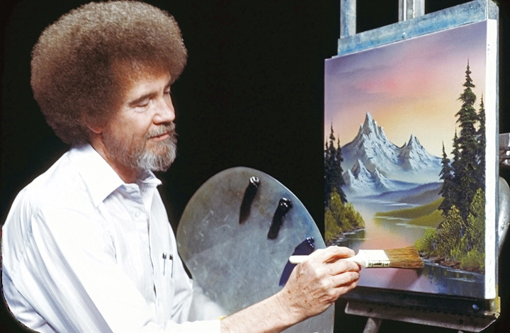 Bob Ross Painting Session